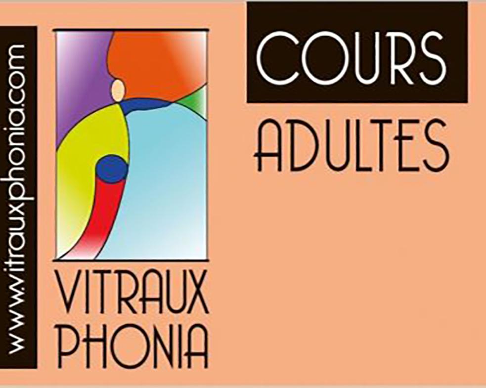 Le planning des cours à l'Atelier VITRAUX PHONIA jusqu'en Décembre 2020
